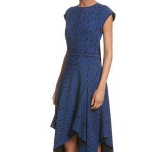 PROENZA SCHOULER SILK DRESS BLUE/BLACK SIZE 8